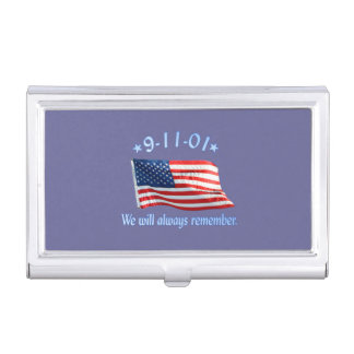 9-11 Memorial We Will Always Remember Business Card Case