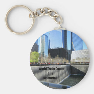 9/11 Memorial, World Trade Center, New York City Basic Round Button Key Ring