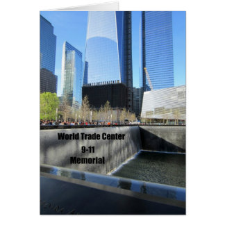 9/11 Memorial, World Trade Center, New York City Greeting Card
