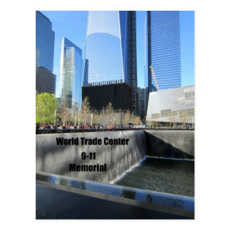 9/11 Memorial, World Trade Center, New York City Postcard