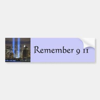 9 11 Never Forget, Always Remember Car Bumper Sticker
