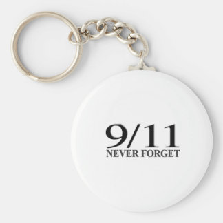 9/11 Never Forget Basic Round Button Key Ring