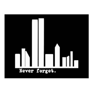 9-11 Never Forget NY Skyline Tshirts, Buttons Postcard