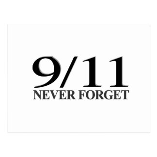 9/11 Never Forget Postcard