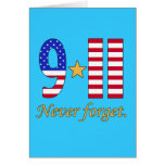 9-11 Never Forget Products Greeting Cards