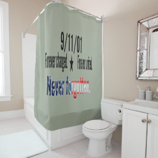 9-11 Never Forgotten Memorial Tribute Shower Curtain