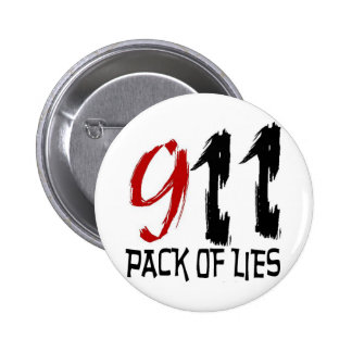 9/11 Pack of Lies 6 Cm Round Badge
