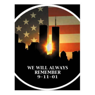 9-11 remember - We will never forget Postcard