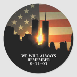 9-11 remember - We will never forget Round Sticker