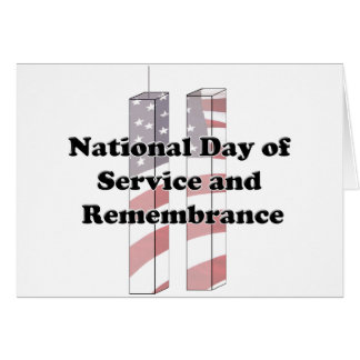 9-11 Remembrance  Day - Patriot Day Note Card