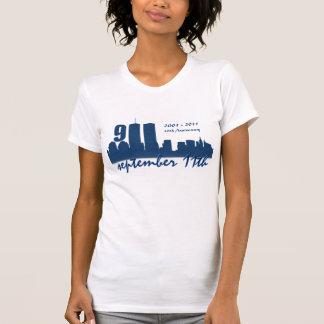 9/11 September 11th -10th Anniversar Grunge Tshirt