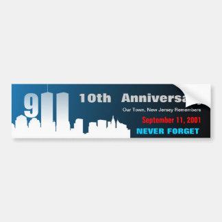 9/11 September 11th - Customized Bumper Sticker