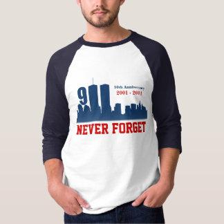 9/11 September 11th - Never Forget - Raglan Tshirt