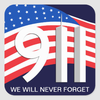 9/11 September 11th - Never Forget Stickers