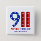 9/11 September 11th - Never Forget - WTC Pins