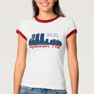 9/11 September 11th WTC - Ladies Ringer T-shirt