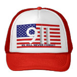 9/11 September 11th WTC - Never Forget Hat