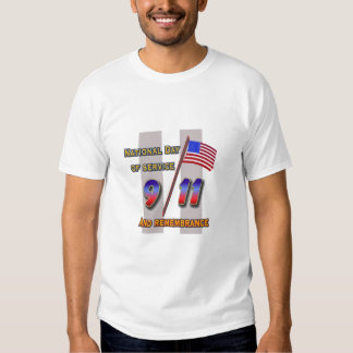 9/11 Service and Remembrance Day Tee Shirt
