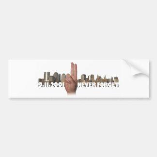 9/11 Skyline Memorial Symbol Bumper Sticker Car Bumper Sticker