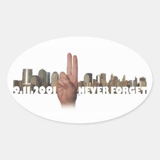 9/11  Skyline Memorial Symbol Sticker