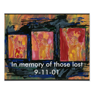 9-11 Statue of Liberty Print