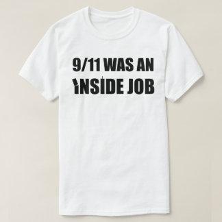 9/11 - tilt - WAS an inside job (black) T-Shirt