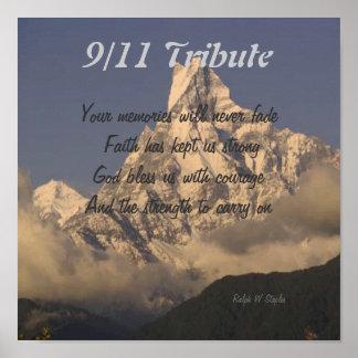 9/11 tribute prints poster