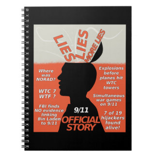 9-11 Truth Official Story Lies Spiral Notebooks