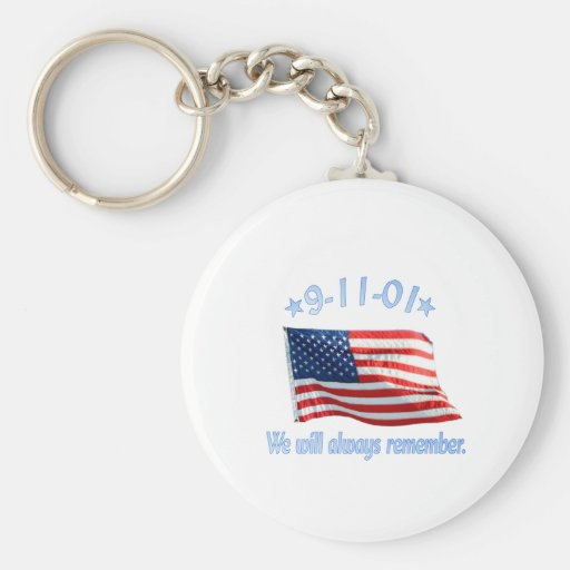 9-11 We Will Always Remember Key Chains