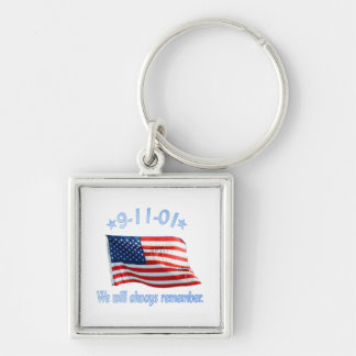 9-11 We Will Always Remember Keychains