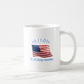 9-11 We Will Always Remember Mug
