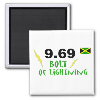 9.69 bolt of lightning square magnet