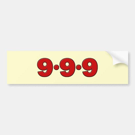 9-9-9: September 9th, 2009 Bumper Sticker