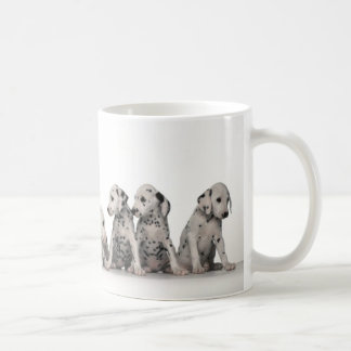 9 Adorable Dalmatian Puppies Basic White Mug
