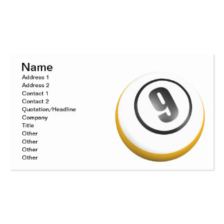 9 Ball Pack Of Standard Business Cards