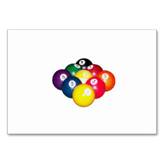 9 Ball Rack Table Card