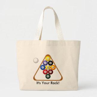 9-ball Rack tote Tote Bag