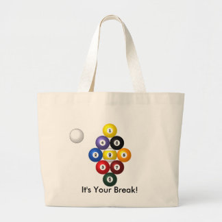 9-ball rack tote canvas bags