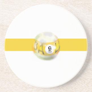 9 Ball Yellow Stripe Coaster
