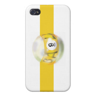 9 Ball Yellow Stripe iPhone 4 Cover