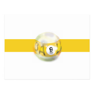 9 Ball Yellow Stripe Postcard