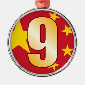 9 CHINA Gold Christmas Ornament