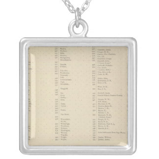 9 Congressional Districts Silver Plated Necklace