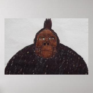 9 ft/275 cm tall Yeti ape man giant Poster