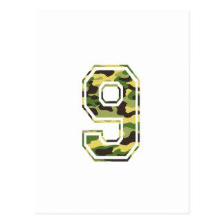 #9 Green & Yellow Camo Postcard