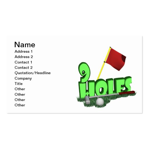 9 Holes Business Card Template