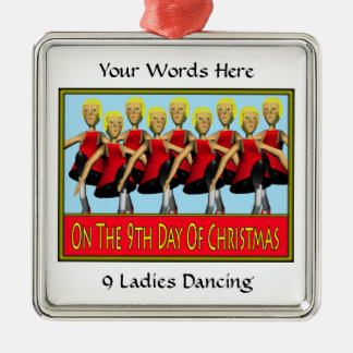 9 Ladies Dancing Christmas Ornament