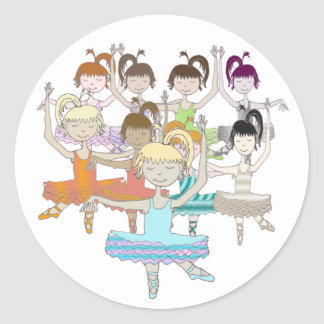 9 Ladies Dancing Classic Round Sticker