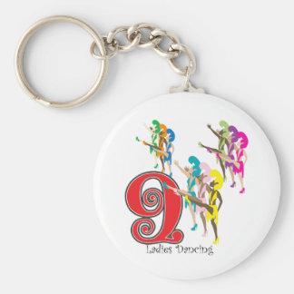 9 Ladies Dancing Key Ring