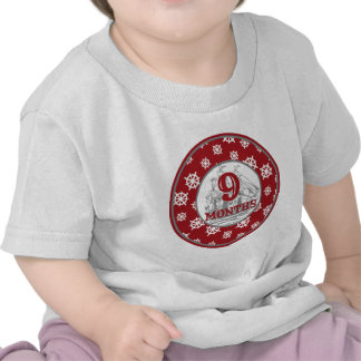 9 Months Coastal Milestone Tee Shirts
